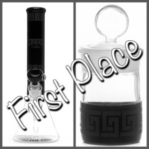 Crooks & Castles / Pure Glass Collab water pipe and matching jar